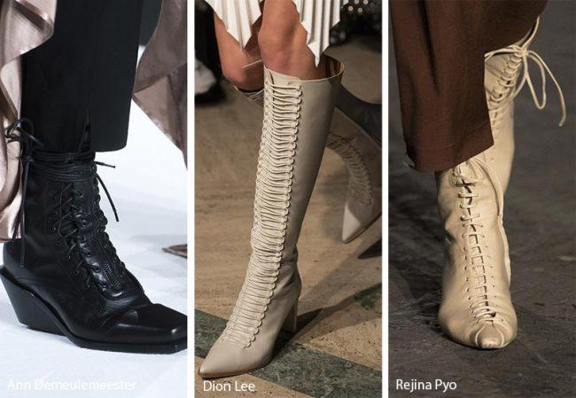 Stivali stringati dallo stile Vittoriamo moda inverno 2019 2020