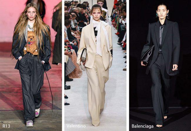 Tailleur eleganti dallo stile rilassato moda inverno 2019 2020