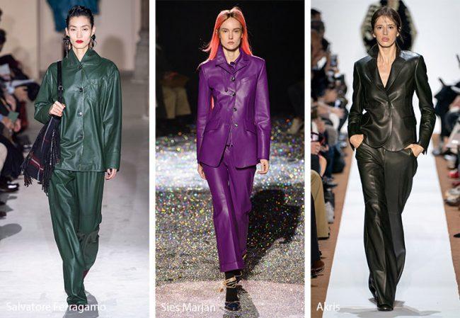 Tailleur in pelle moda inverno 2019 2020
