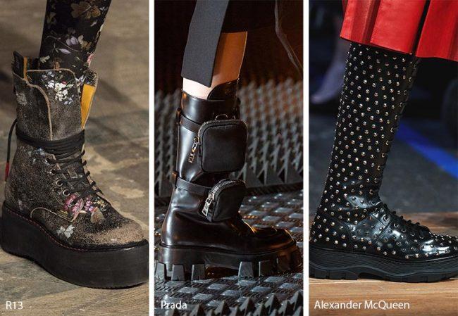 Tendenza scarpe e stivali inverno 2019 2020 con suole platform