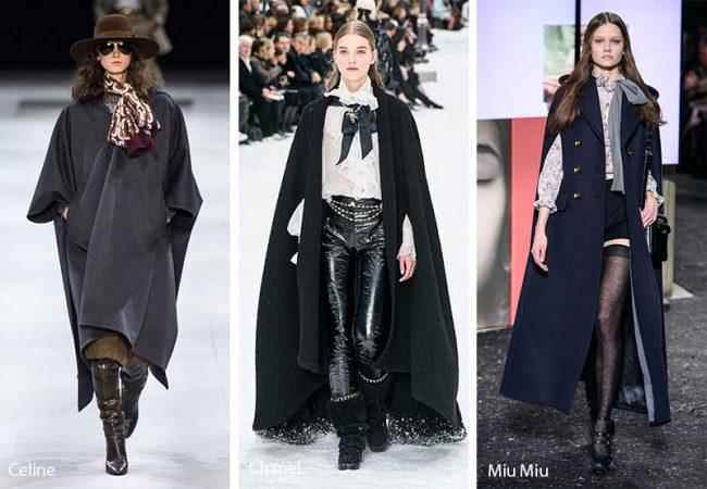 Tendenze Moda donna inverno 2019 2020 cappe e mantelle