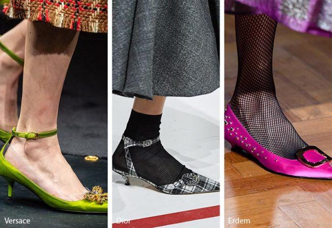 Tendenze scarpe e stivali moda inverno 2019 2020 tacchi gattino