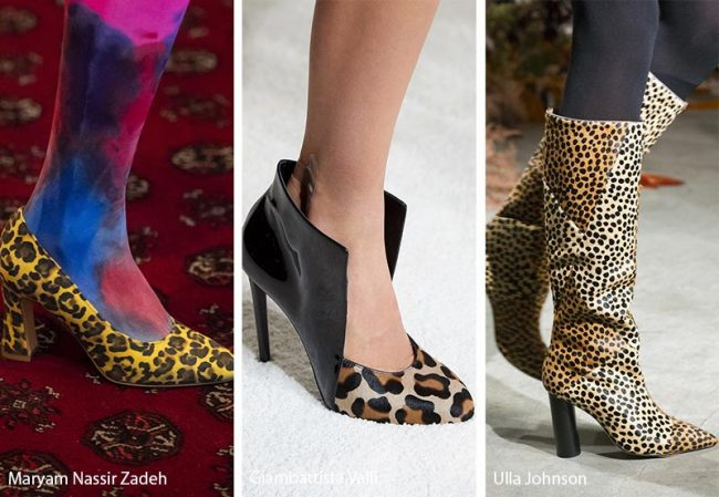 Tendenze scarpe e stivali nelle varie stampe animalier moda inverno 2019 2020