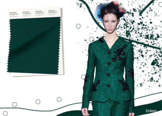 Verde Foresta Forest Biome Colore Pantone moda inverno 2019 2020