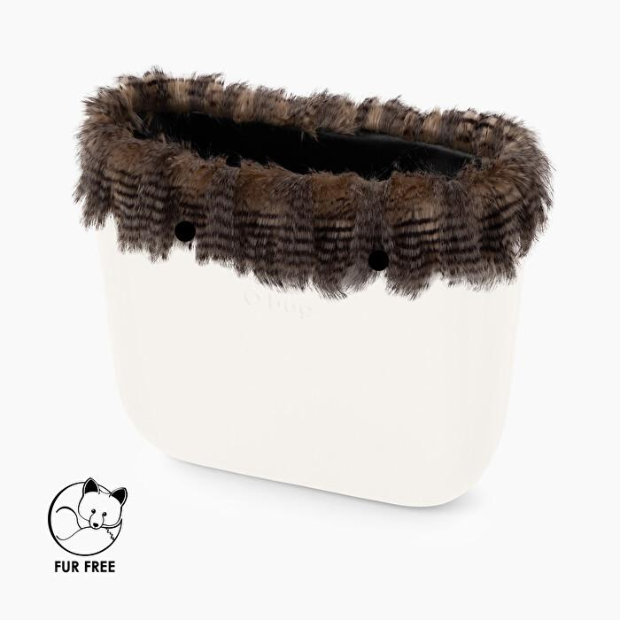 Bordo borsa O Bag in ecopelliccia Soft lines sabbia catalogo inverno 2019 2020