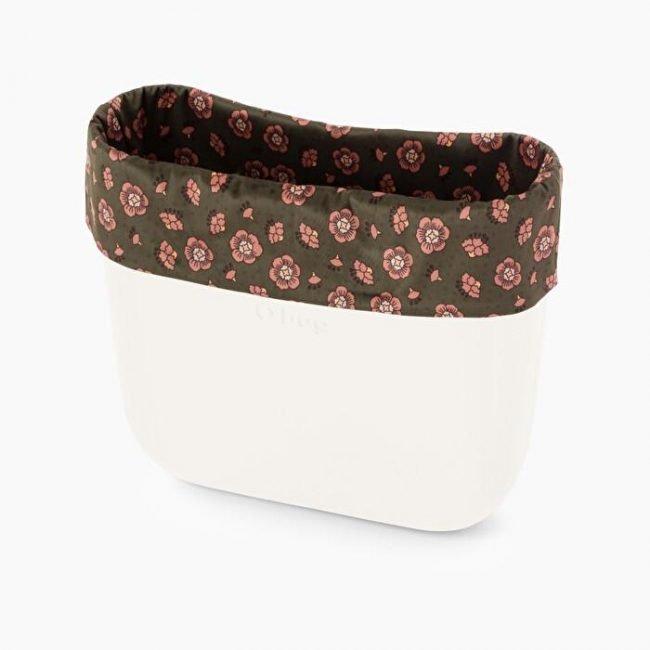 Bordo borsa o bag in tessuto con garofani collezione autunno inverno 2019 2020