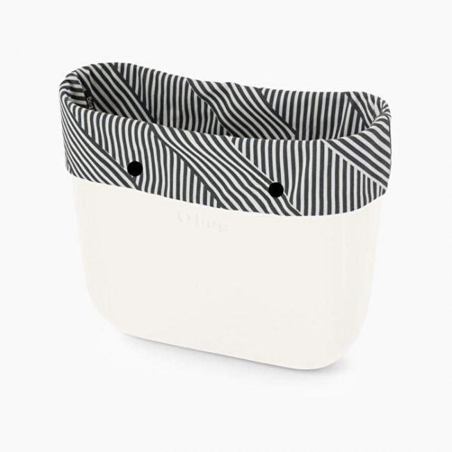 Bordo in tessuto optical stripes O bag collezione inverno 2019 2020