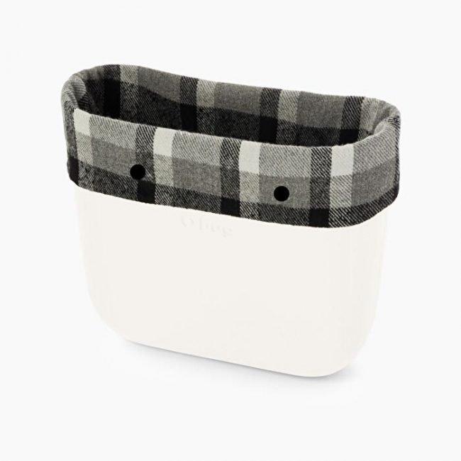 Bordo invernale borsa O bag in tessuto a quadri