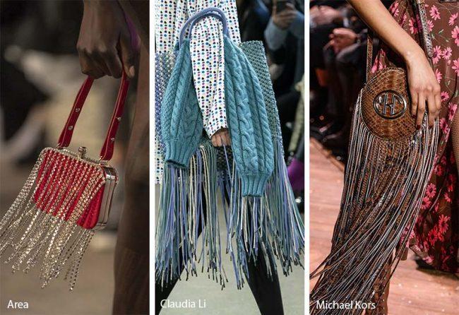 Borse con le frange moda inverno 2019 2020