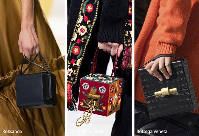 Borse dalla forma cubica moda inverno 2019 2020