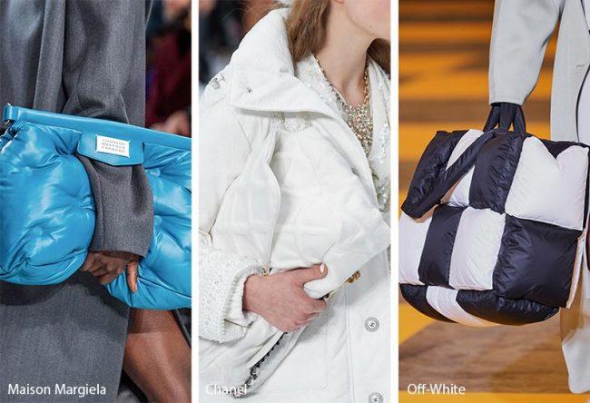 Borse imbottite trapuntate moda inverno 2019 2020