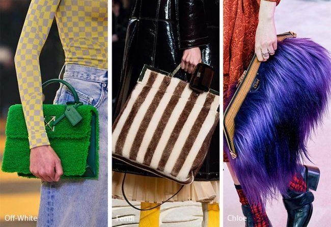 Borse in ecopelliccia tendenza moda inverno 2019 2020