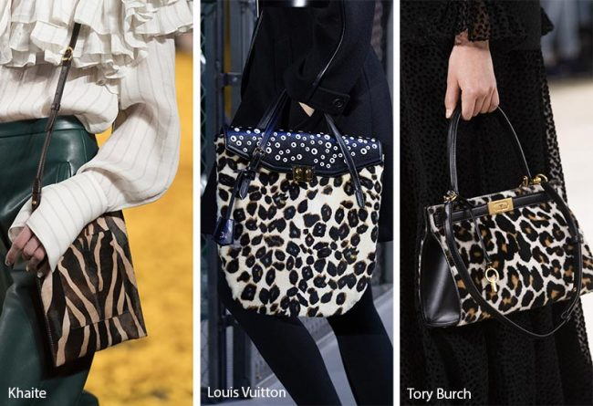 Borse in fantasie leopardate e zebrate inverno 2020