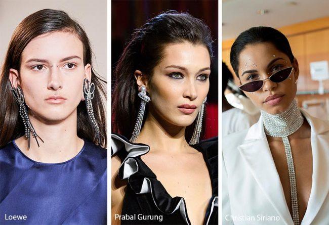 Cascate di strass moda gioielli inverno 2019 2020