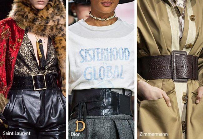 Cinturoni moda accessori inverno 2019 2020