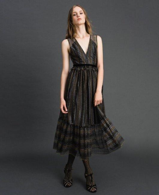 Elegante abito longuette Twinset autunno inverno 2019 2020