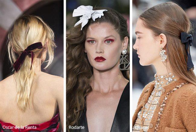 Fermagli per capelli a forma di fiocco moda inverno 2019 2020