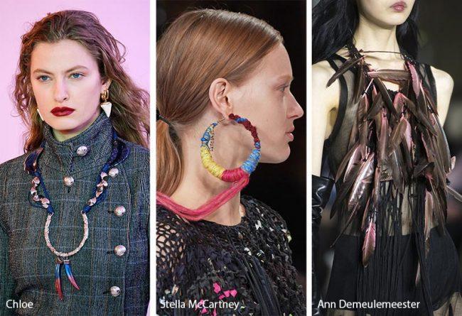 Gioielli dallo stile boho chic moda inverno 2019 2020