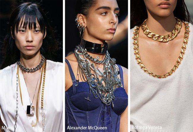 Gioielli e accessori di catena moda inverno 2019 2020