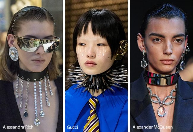 Girocolli chokers punk moda inverno 2019 2020