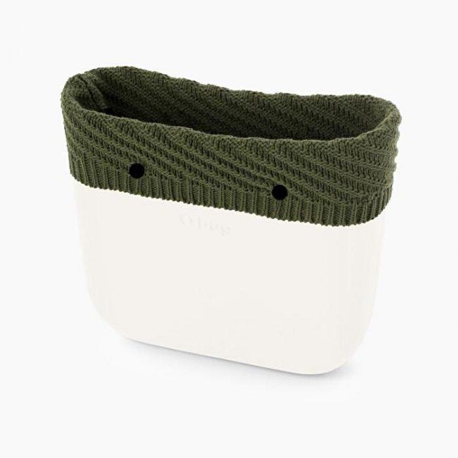 Nuovo bordo borsa O Bag in lana Hannover colore verde militare inverno 2019 2020
