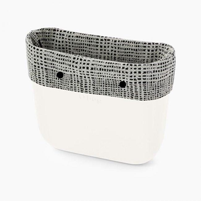 Nuovo bordo borsa O Bag in tessuto marmoreo catalogo inverno 2019 2020