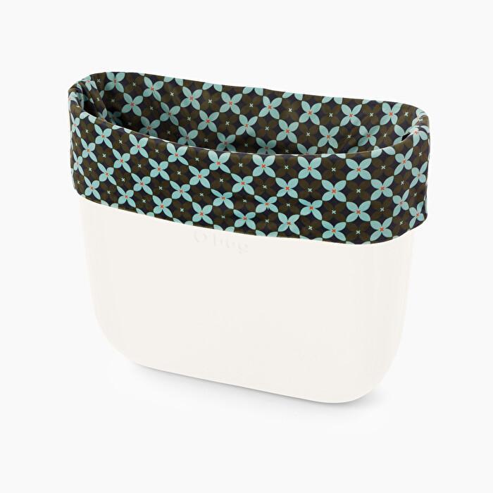 Nuovo bordo borsa O bag collezione inverno 2019 2020 in tessuto floreale geometrico