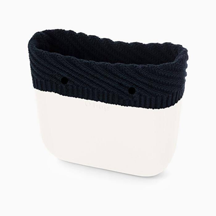Nuovo bordo borsa O bag in lana Hannover color blu navy collezione inverno 2019 2020