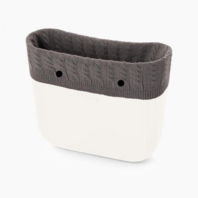 Nuovo bordo invernale borsa O bag in lana antracite con trecce catalogo 2019 2020