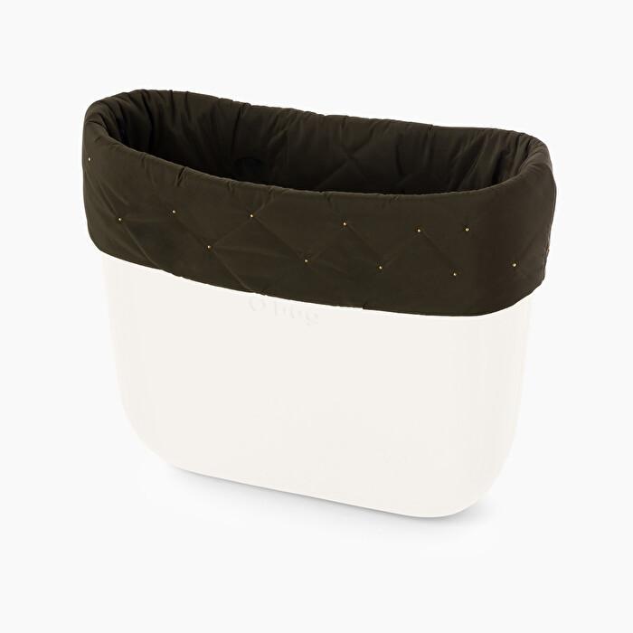 Nuovo bordo trapuntato borsa O Bag con borchie inverno 2019 2020