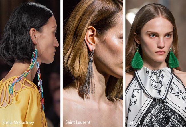 Orecchini con nappe moda gioielli inverno 2019 2020