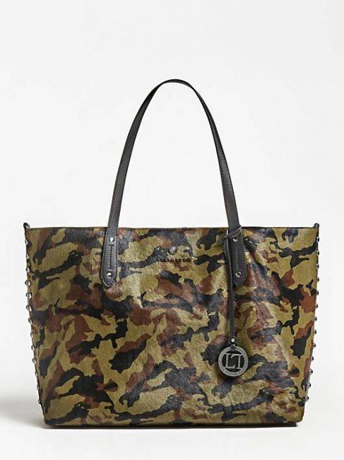 Shopper in vera pelle stampa camouflage inverno 2019 2020