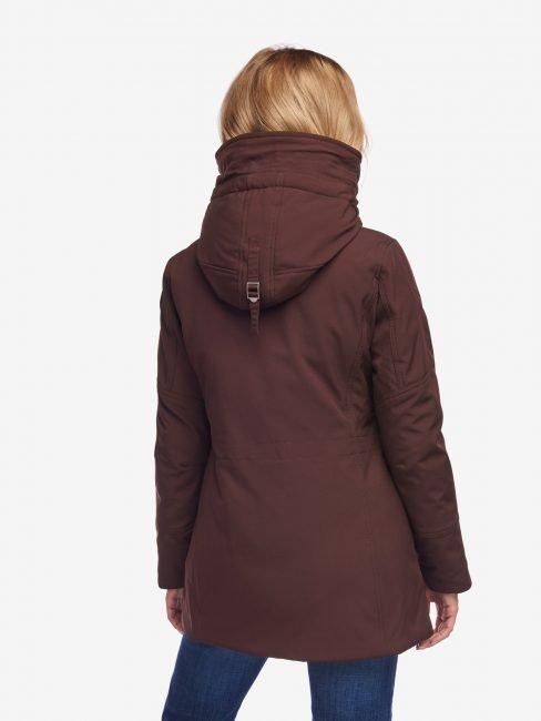 Blauer Parka donna a collo alto inverno 2020 colore Blackberry prezzo 413 euro foto retro