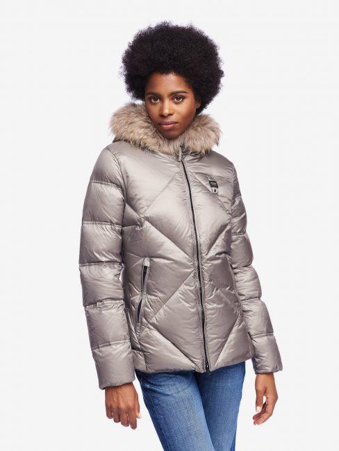 Blauer nuovo giubbotto donna inverno 2020 colore grigio chiaro