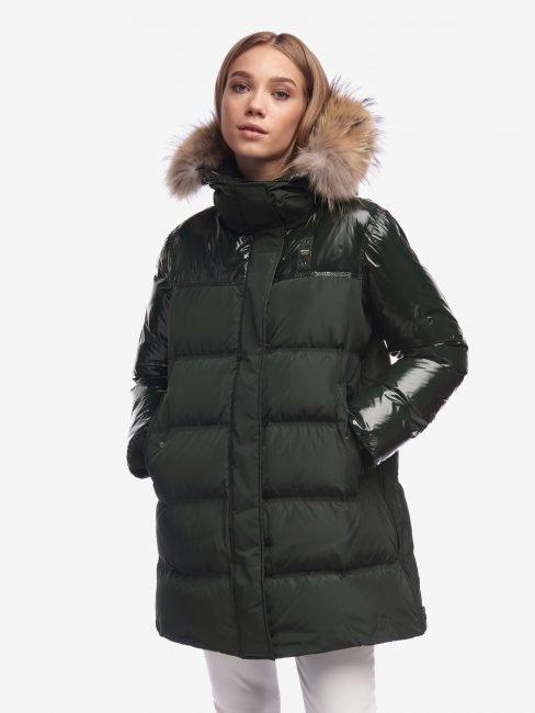 Blauer piumino oversize donna collezione inverno 2020