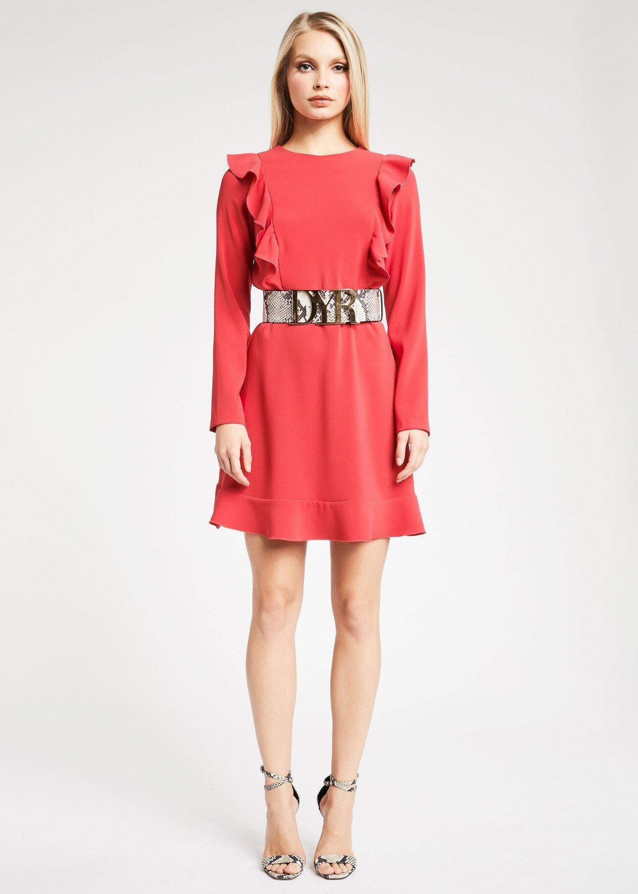 Denny Rose vestito con rouches collezione inverno 2019 2020