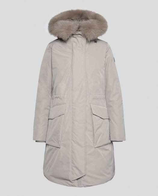 Military Parka Fox Woolrich Inverno 2020 colore Coffee Liquer