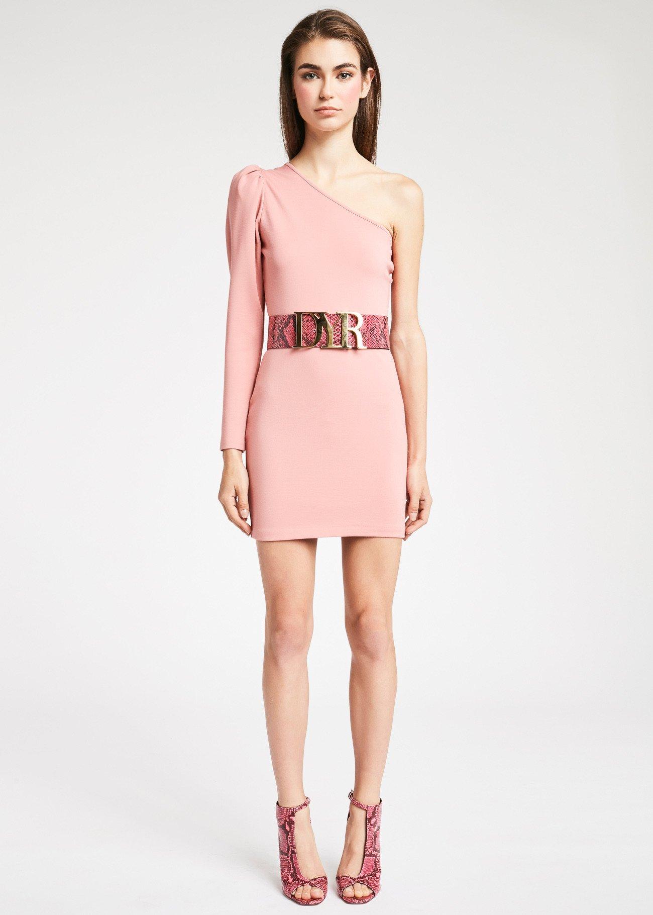 Mini dress monospalla Denny Rose inverno 2019 2020