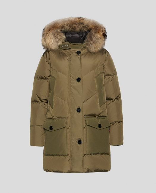 Nuovo Logo Parka Woolrich donna inverno 2020 colore army olive