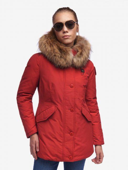 Parka Blauer donna collezione inverno 2020 in tessuto taslan rosso