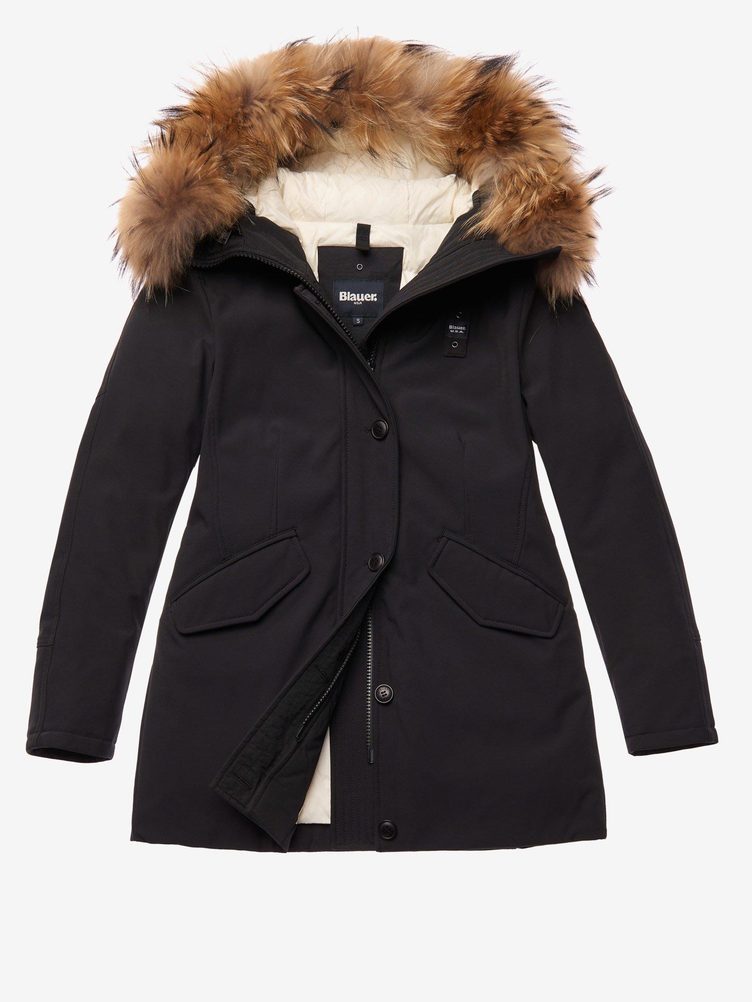 Parka nero Blauer donna collezione inverno 2020 prezzo 463 euro