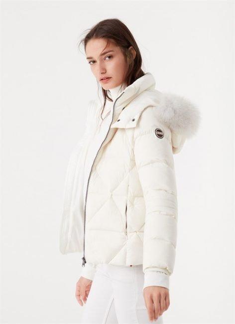 Piumino corto bianco Colmar donna inverno 2020