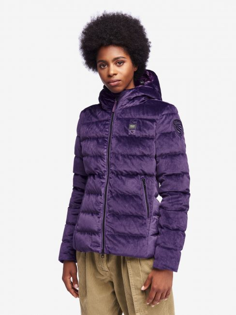 Piumino corto in velluto Blauer donna inverno 2019 2020