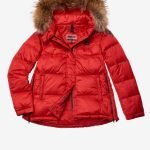 Piumino imbottito Blauer rosso con zip laterali catalogo inverno 2019 2020 prezzo 448 euro.