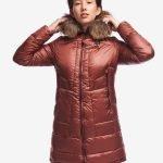 Piumino lungo donna Blauer colore marrone ghianda catalogo inverno 2020
