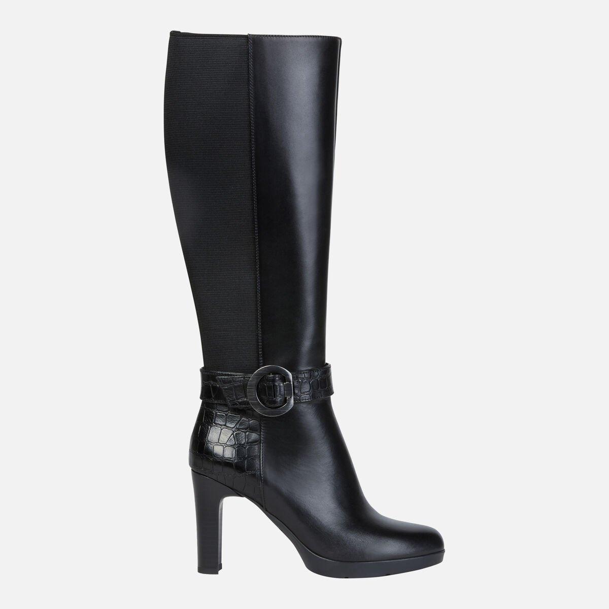 Stivali con tacco alto Geox modello Annya prezzo 195 euro catalogo inverno 2019 2020