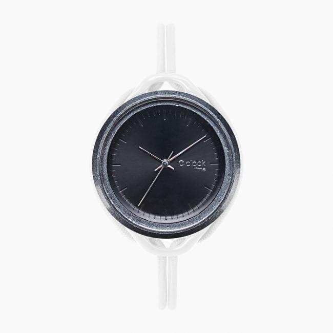 Nuovo Orologio O Clock Time Bianco con meccanismo nero di O bag collezione inverno 2019 2020