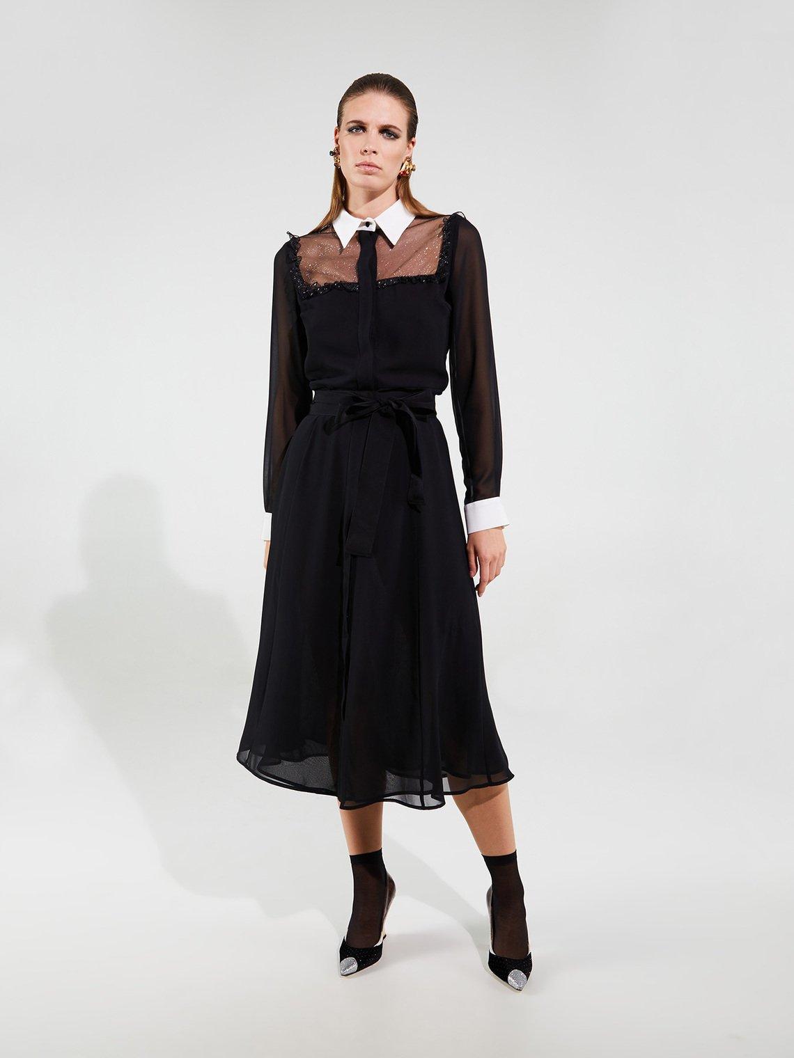 Vestito linea Smart Couture Motivi prezzo 249 euro inverno 2019 2020