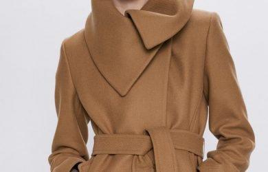 Cappotti a vestaglia Zara cammello e nero inverno 2019 2020