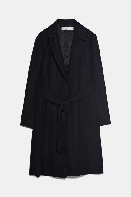 Cappotto nero Zara collezione inverno 2019 2020